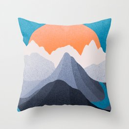 As the river travels Throw Pillow