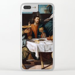 """Tintoretto (Jacopo Robusti) """"The Supper at Emmaus"""" Clear iPhone Case"""