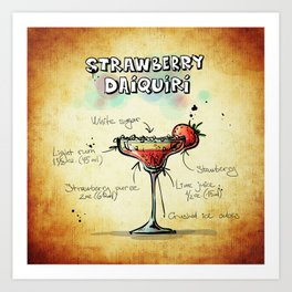 Strawberry Daiquiri Art Print