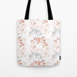 Penciled in Floral Tote Bag