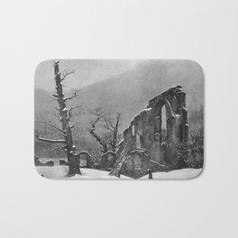 Caspar David Friedrich - Winter - Monk in the Snow - Der Winter - Mönch im Schnee Bath Mat