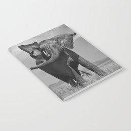 Elephant Throwing Dirt Notebook