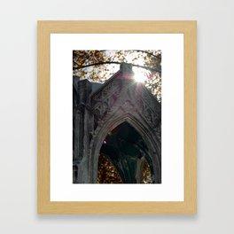 Temple in the eye Framed Art Print