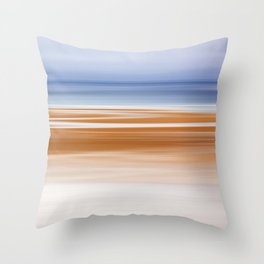 Foggy Evening at Low Tide Throw Pillow