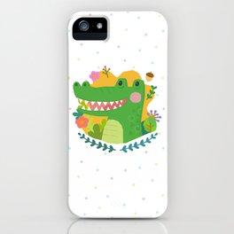 A Cute Crocodile iPhone Case