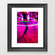 Hula Hoop Skirt Framed Art Print
