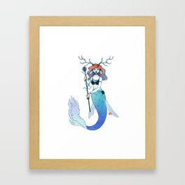 The River Mermaid Framed Art Print
