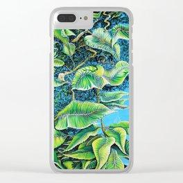Julie's Jungle Clear iPhone Case