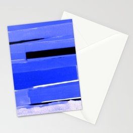 Indigo Monochromatic with Lavender Tones Stationery Cards