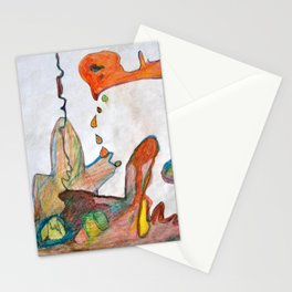 Crying Chicken Stationery Cards