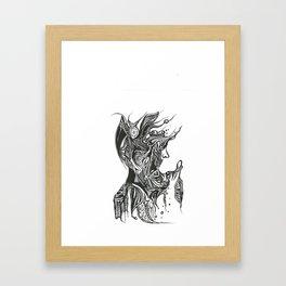 MAN ABOUT TOWN Framed Art Print