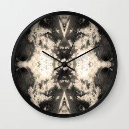 Hand Soil Mandala Wall Clock