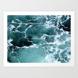 Marbled Waters Art Print