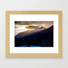 A December Sunrise Framed Art Print