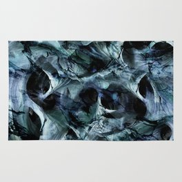 blue marble cave Rug