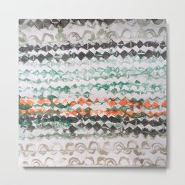 tapa - mixed bands (brown green orange) Metal Print