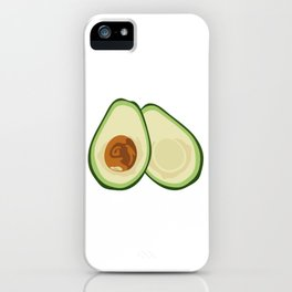 Avocado Halves iPhone Case