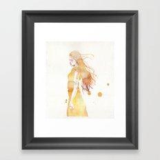 small piece 50 Framed Art Print