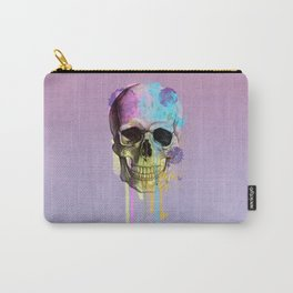 skull in purple Carry-All Pouch