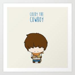 Colby the Cowboy Art Print