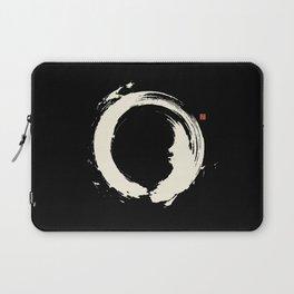 Black Enso / Japanese Zen Circle Laptop Sleeve