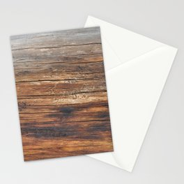 wood 4a Stationery Cards