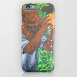 Drinking a Coconut iPhone Case