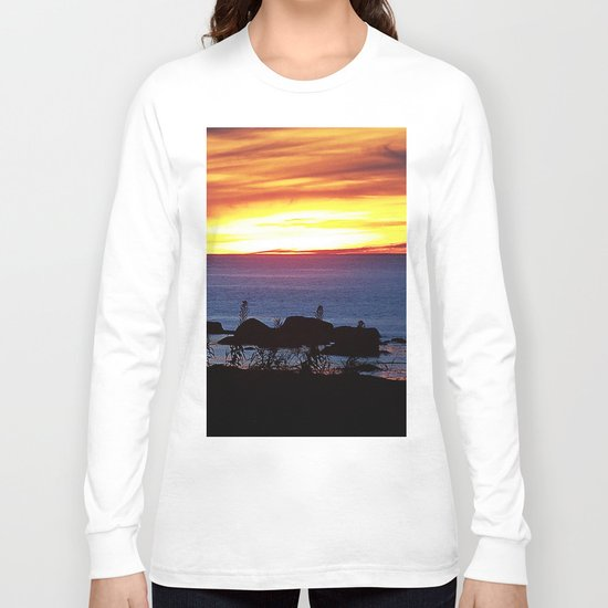 Sunset Swirling Clouds Long Sleeve T-shirt