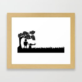 The child and the robot Framed Art Print