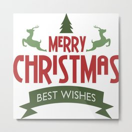 Merry Christmas Best Wishes Metal Print