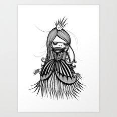 Skeleton Princess Art Print