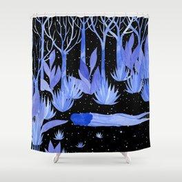Space garden Shower Curtain