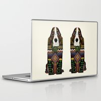 the hound Laptop & iPad Skins featuring Basset Hound by Sharon Turner