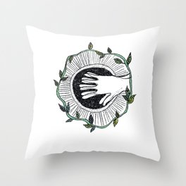 Eye wide opened Throw Pillow