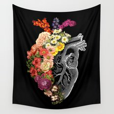 Flower Heart Spring Wall Tapestry