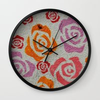 concrete Wall Clocks featuring concrete  by elizabethaknee