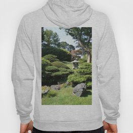 Japanese Garden View With Lantern Hoody