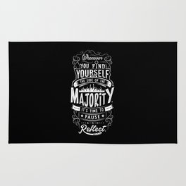 Lab No. 4 Whenever You Find Yourself Mark Twain Quotes Rug