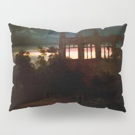 Landscape with castle ruins by Arnold Bocklin Pillow Sham
