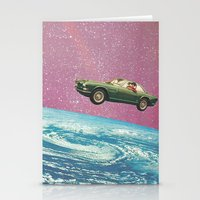 bon iver Stationery Cards featuring Bon voyage by flirst
