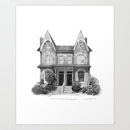 Victorian Bay & Gable, Cabbagetown - Architectural Styles of Toronto Houses Art Print