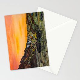 Old mining town  Stationery Cards