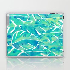 Split Leaf Philodendron – Turquoise Laptop & iPad Skin