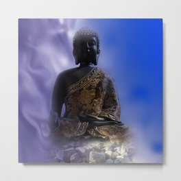 silence in your mind -2- Metal Print