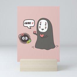 No-Face in Love of SootBall Mini Art Print