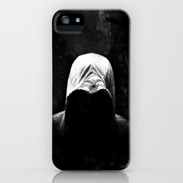 Native Assassin Hood - B&W iPhone Case