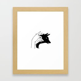 Deer shadow Framed Art Print