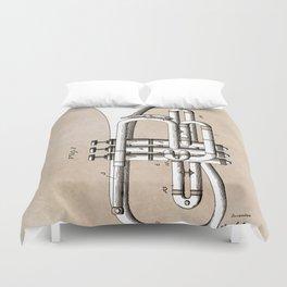 patent Conn Valve Musical Instrument 1901 Duvet Cover