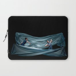 Dancing in rough blue waters Laptop Sleeve