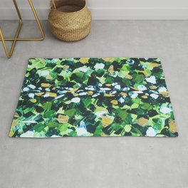 Colorful Green Abstract Painting Rug